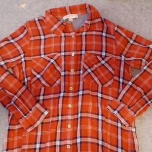 Michael Kors Red Button Up Flannel